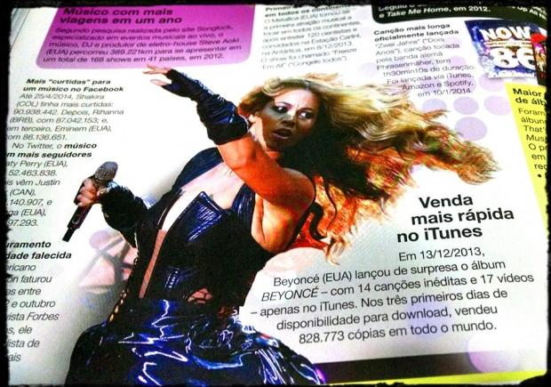 Beyoncé no Guinness Book 2015 (Foto: Reprodução)