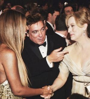 Beyoncé e Meryl Streep no Globo de Ouro, em 2007 (Foto: Reprodução)