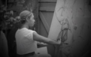 Imagens extras mostram Beyoncé pintando (Foto: Reprodução)