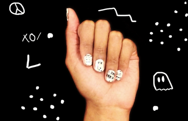 Kit de unhas decorativas 'I Come With a Side of Trouble' (Foto: Divulgação)