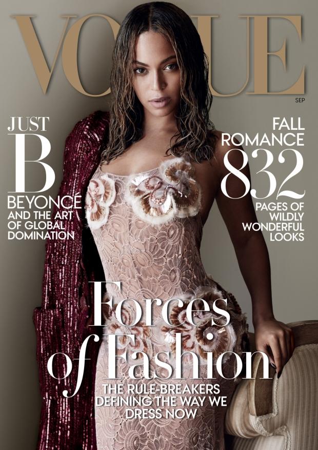 Beyoncé é capa da edição de set/2015 da revista Vogue (Foto: Vogue/Mario Testino)