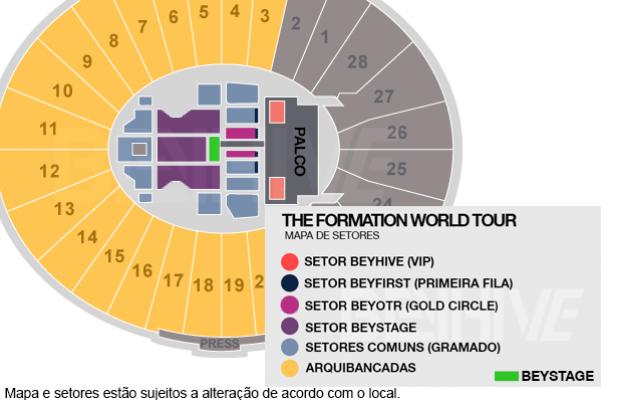 """""""The Formation World Tour"""": Ingressos para a nova turnê de Beyoncé podem chegar até a R$6.800,00"""