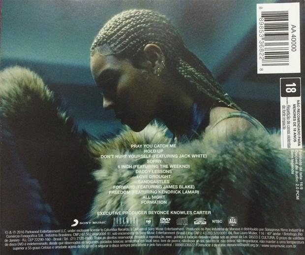 Contra capa do CD 'LEMONADE' (Foto: Reprodução)