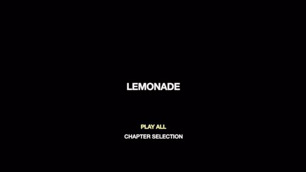 Menu do DVD 'LEMONADE' (Foto: Reprodução)