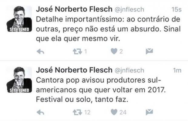 Tuítes de José Norberto Flesch (Foto: Reprodução/Twitter)