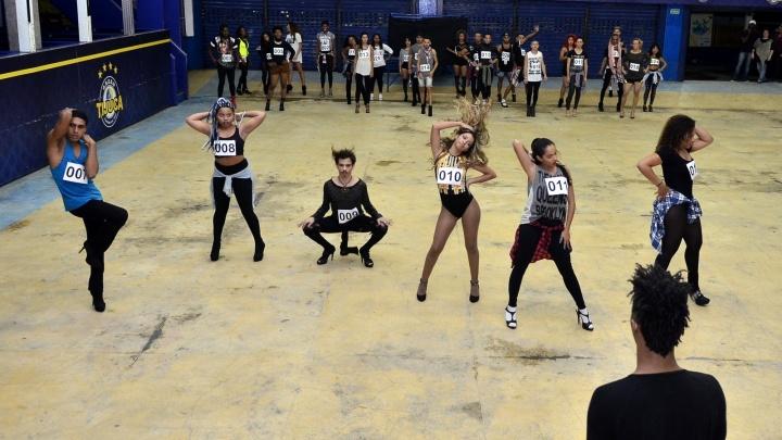 Audição para ala em homenagem à Beyoncé na Unidos da Tijuca (Foto: Roberto Teixeira/EGO)