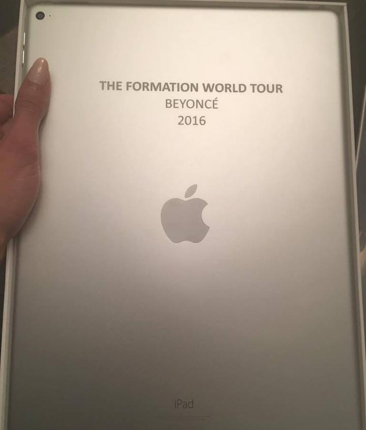 Beyoncé presenteou equipe com iPad Pro  (Foto: Reprodução)
