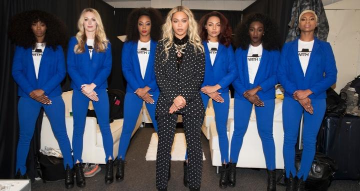 Beyoncé em show de apoio à Hillary Clinton (Foto: Divulgação/Beyoncé)