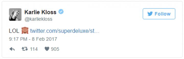 Karlie Kloss ri de gafe no Twitter (Foto: Reprodução)