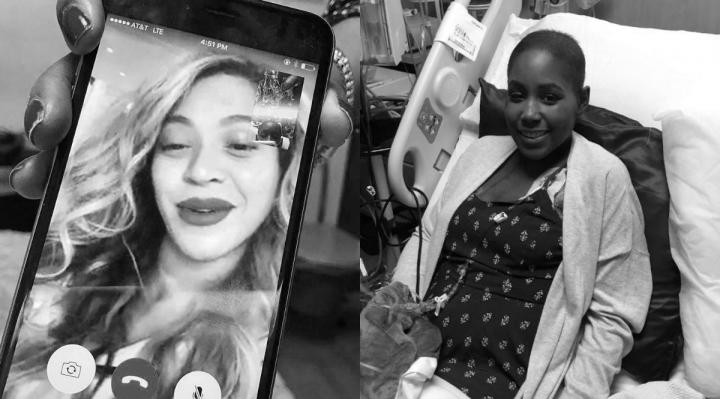 Ebony Banks recebey ligação de Beyoncé (Foto: Reprodução)