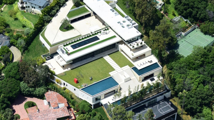 Mansão localizada em Bel Air, Los Angeles (Foto: Splash News)