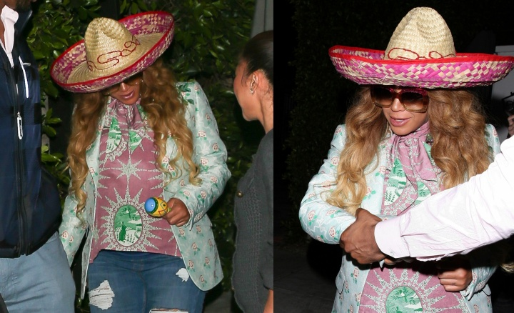 Beyoncé celebra o CInco de Mayo (Foto: BackGrid)