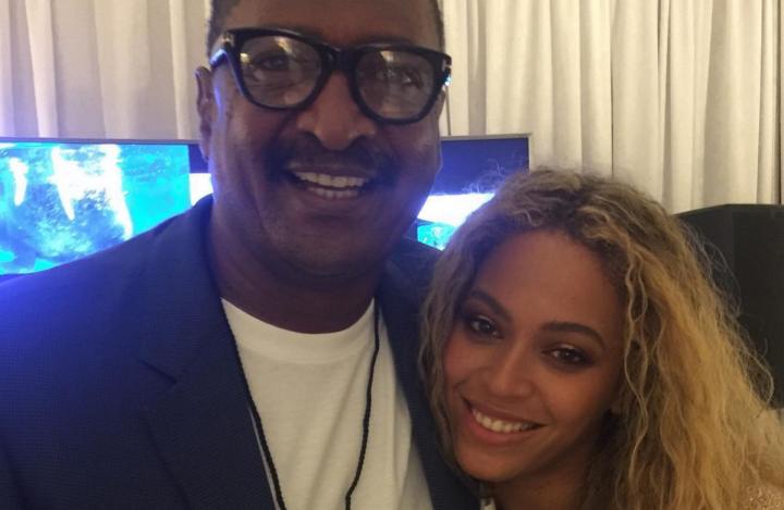 Beyoncé e o pai, Mathew Knowles (Foto: Divulgação)