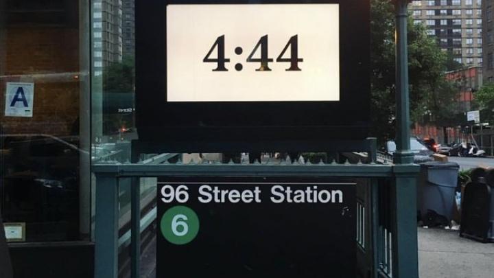 Publicidade '4:44' patrocinada pelo Tidal em Nova York (Foto: Reprodução)