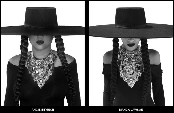 Parentes e amigas parabenizam Beyoncé usando figurino de 'Formation' (Foto: Divulgação)