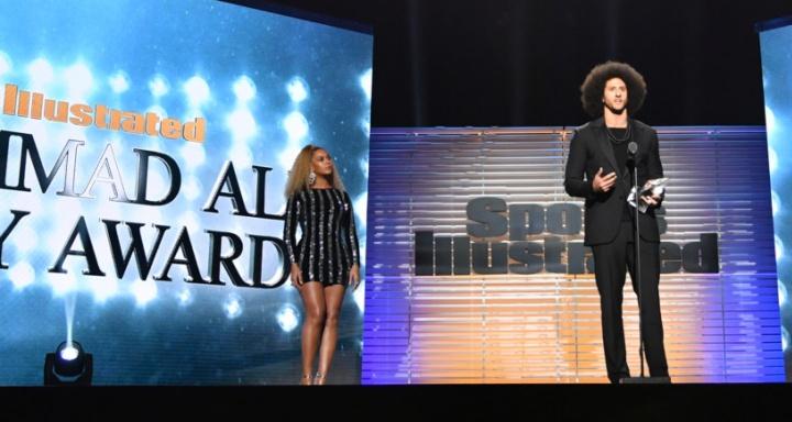 Beyoncé e Colin Kaepernick (Foto: Reprodução/Beyonce.com)