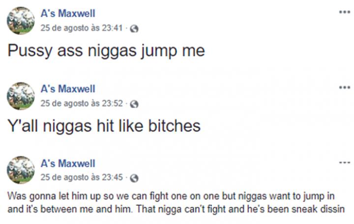 Anthony Maxwell fez publicações após invadir show de Beyoncé e Jay-Z (Foto: Reprodução/Facebook)