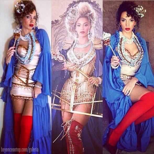 Fantasia inspirada no comercial de divulgação da turnê 'The Mrs. Carter Show'