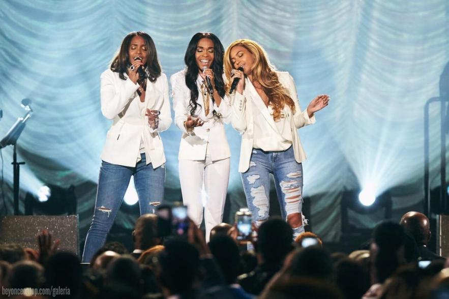 As ex-Destiny's Child se reuniram para cantar 'Say Yes'